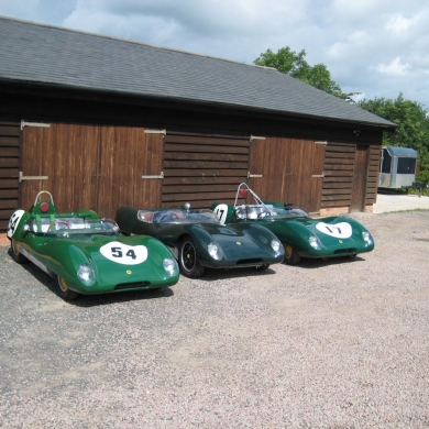 Three lotus 17's