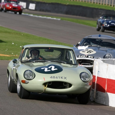 Top Harris getting intimate with the chicane at Goodwood