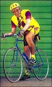 Len Terry ready for his morning cycle ride