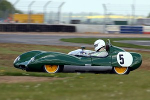 Andrew Co driving at Silverstone, and on his way to a class win